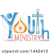 Clipart Of A Youth Ministry Text Design Royalty Free Vector Illustration