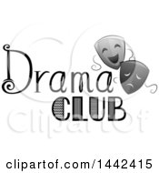 Pair Of Theater Masks With Drama Club Text
