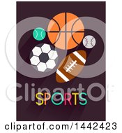 Clipart Of Sports Balls And Text Royalty Free Vector Illustration by BNP Design Studio