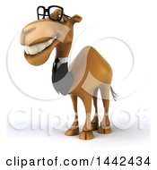 Clipart Of A 3d Business Camel On A White Background Royalty Free Illustration