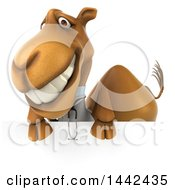 3d Doctor Or Veterinarian Camel On A White Background