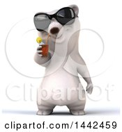 Clipart Of A 3d Polar Bear On A White Background Royalty Free Illustration