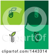 Poster, Art Print Of Paperclip And Leaf Designs