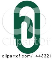 Clipart Of A Green Paperclip Royalty Free Vector Illustration by elena