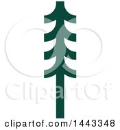 Clipart Of A Green Evergreen Fir Tree Royalty Free Vector Illustration