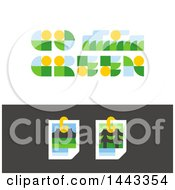 Clipart Of Flat Styled Go Green And Nature Photos Designs Royalty Free Vector Illustration