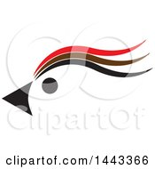 Clipart Of A Red Brown And Black Profiled Bird Mascot Head Royalty Free Vector Illustration