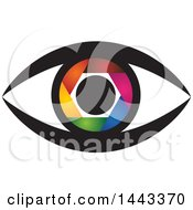 Clipart Of A Colorful Shutter Eye Royalty Free Vector Illustration