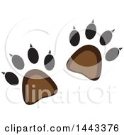 Clipart Of A Set Of Bear Or Wildlife Tracks Royalty Free Vector Illustration