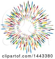 Clipart Of A Colorful Circle Design Royalty Free Vector Illustration