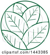 Clipart Of A Green Leaves Logo Design Royalty Free Vector Illustration