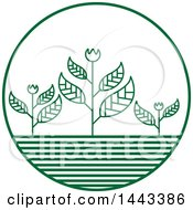 Clipart Of A Green Flower Crops Logo Design Royalty Free Vector Illustration by ColorMagic