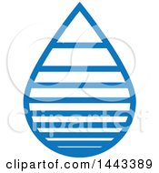 Clipart Of A Blue Water Drop Design Royalty Free Vector Illustration