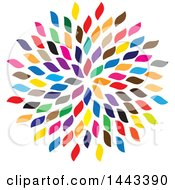 Clipart Of A Cluster Of Colorful Petals Royalty Free Vector Illustration