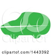 Clipart Of A Green Leaf Car Royalty Free Vector Illustration