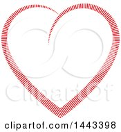 Clipart Of A Red Heart Formed Of Lines Royalty Free Vector Illustration