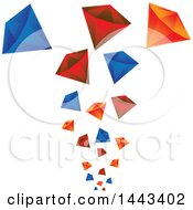 Clipart Of Falling Gems Royalty Free Vector Illustration