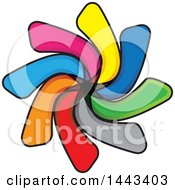 Clipart Of A Colorful Abstract Logo Design Royalty Free Vector Illustration