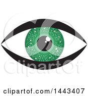 Clipart Of A Green Circuit Board Eye Royalty Free Vector Illustration