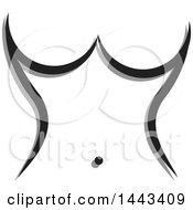 Clipart Of A Womans Torso Made Of Gray And Black Strokes Royalty Free Vector Illustration