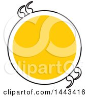 Clipart Of A Yellow And Black Circle With Quotes Royalty Free Vector Illustration