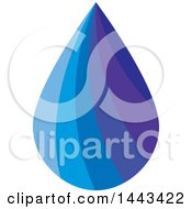 Clipart Of A Gradient Water Drop Royalty Free Vector Illustration