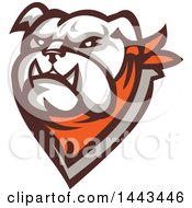 Clipart Of A Retro Tough Bulldog Head With A Bandana Royalty Free Vector Illustration