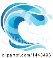Blue Splash Ocean Surf Wave
