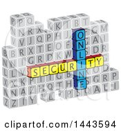 Clipart Of Highlighted Words Online Security In Alphabet Letter Blocks Royalty Free Vector Illustration