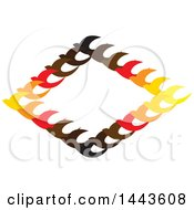 Clipart Of A Diamond Frame Of Birds Royalty Free Vector Illustration
