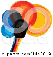 Clipart Of A Colorful Abstract Brain Royalty Free Vector Illustration by ColorMagic