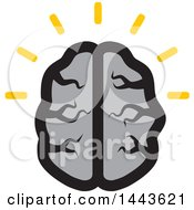 Clipart Of A Gray Human Brain With Idea Lines Royalty Free Vector Illustration by ColorMagic