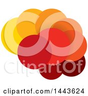 Clipart Of A Brain Made Of Yellow Orange And Red Bubbles Royalty Free Vector Illustration by ColorMagic