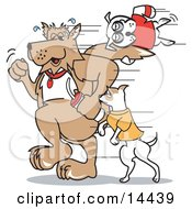 Dogs Walking Clipart Illustration by Andy Nortnik