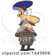 Clipart Of A Cartoon Man Joseph Stalin Standing With His Hands Behind His Back Royalty Free Vector Illustration