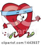 Cartoon Fit Love Heart Character Running