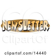 Internet Web Button Reading Newsletter Clipart Illustration