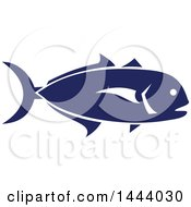 Blue Crevalle Jack Fish In Profile