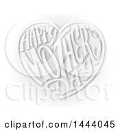 Grayscale Love Heart With Happy Mothers Day Text Inside
