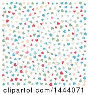 Clipart Of A Backgrond Pattern Of Colorful Hearts Royalty Free Vector Illustration