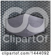 Clipart Of A Metal Plaque Over Texture Royalty Free Illustration
