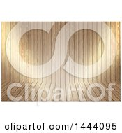 Clipart Of A Wood Curve Texture Background Royalty Free Illustration
