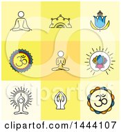 Clipart Of Meditation And Zen Icons Royalty Free Vector Illustration by ColorMagic