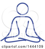 Clipart Of A Blue Meditating Person Royalty Free Vector Illustration by ColorMagic