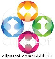 Poster, Art Print Of Gears Of Colorful Dancing Couples