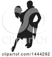 Silhouetted Latin Dancer Couple