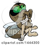 Clipart Of A Cartoon Fly Royalty Free Vector Illustration by dero