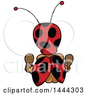 Clipart Of A Cartoon Rear View Of A Ladybug Royalty Free Vector Illustration by dero