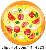 Clipart Of A Surpreme Pizza Royalty Free Vector Illustration by Vector Tradition SM