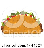 Clipart Of A Cruncy Taco Royalty Free Vector Illustration by Vector Tradition SM